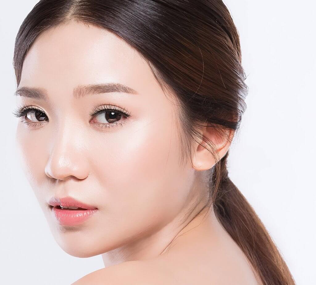 Asian Woman with Beautiful Skin