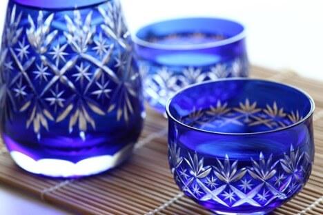Blue Sake Cups