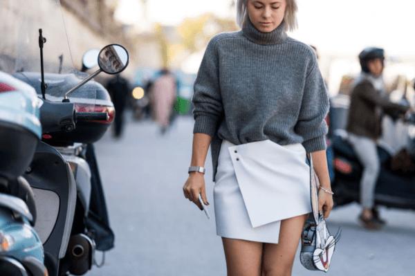Wrap Skirt and Turtleneck