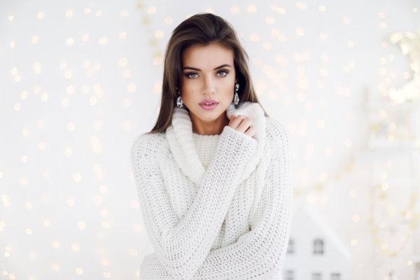 Girl White Sweater