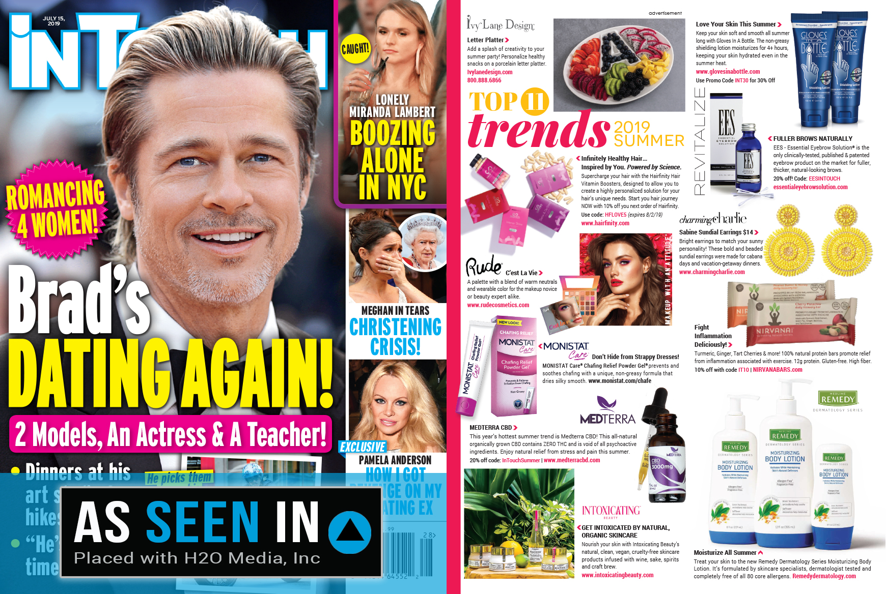InTouch magazine containing Intoxicating Beauty products.