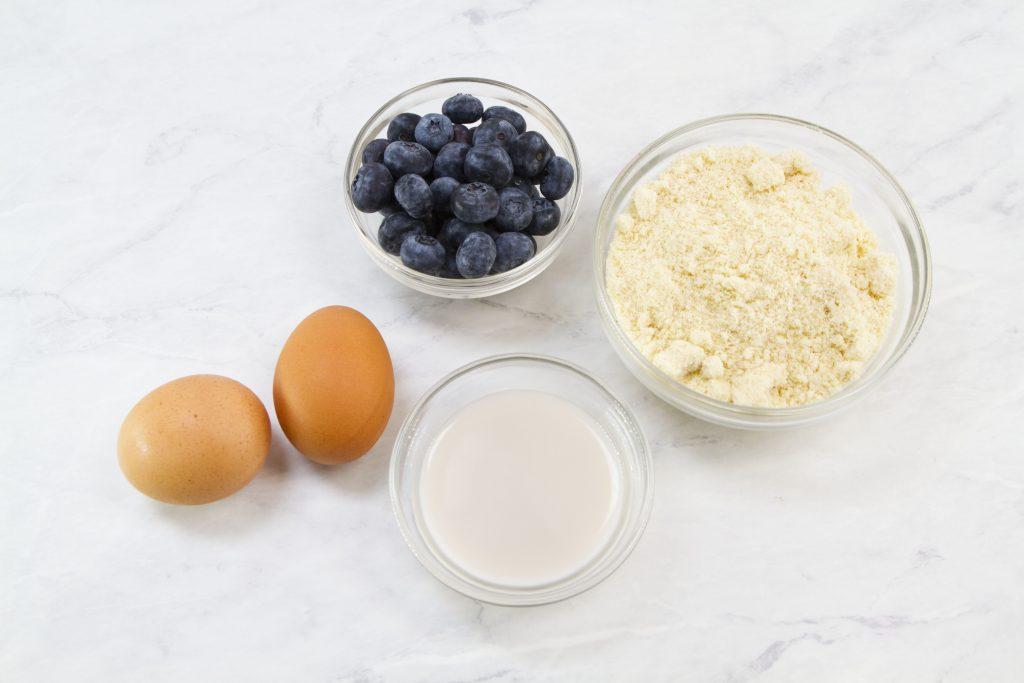 Keto Vegan Blueberry Pancakes Ingredients