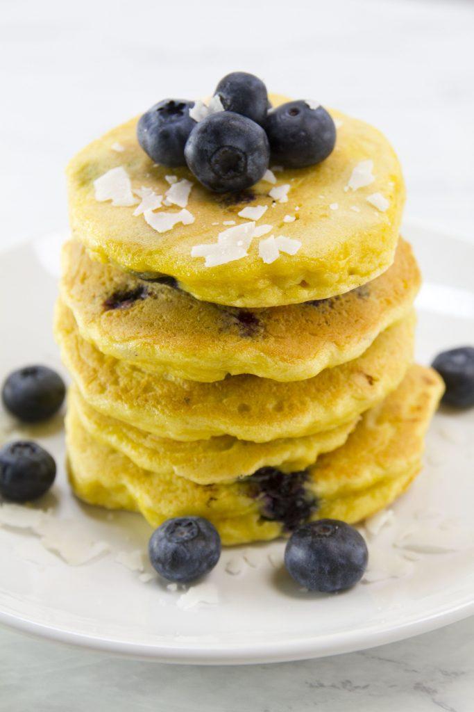 Wonderful Keto Vegan Blueberry Pancakes