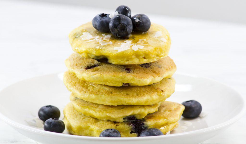 Delicious Keto Vegan Blueberry Pancakes
