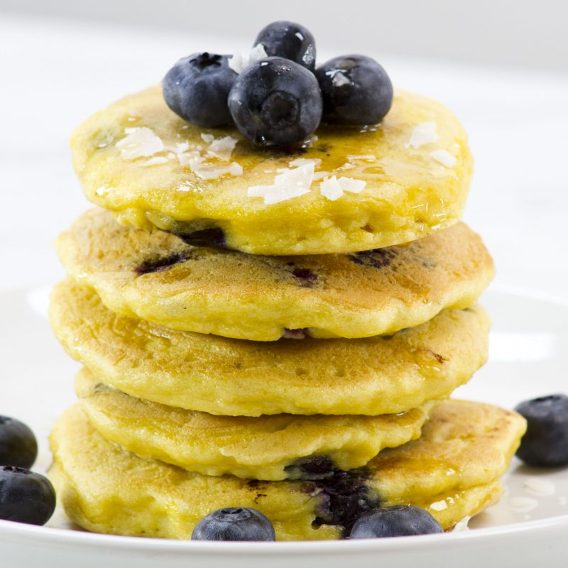Delicious Keto Vegan Blueberry Pancakes