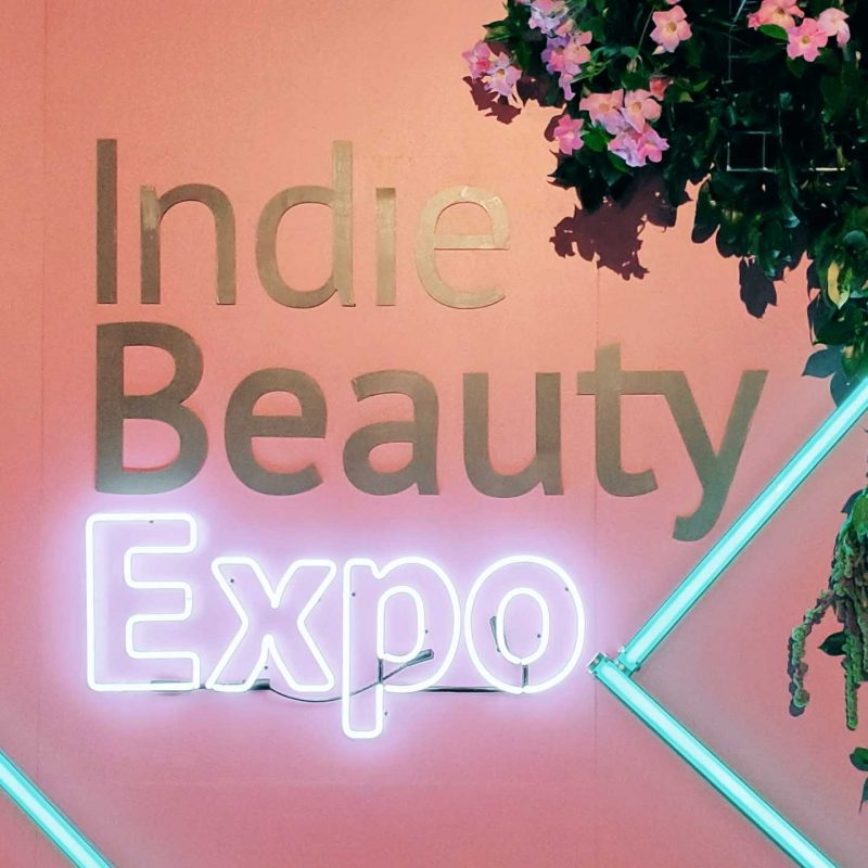 Indie Beauty Expo sign at IBE 2019.