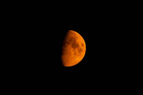 Orange half moon.