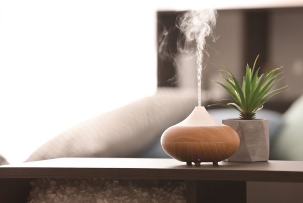 An active oil diffuser used for aromatherapy and better beauty sleep.