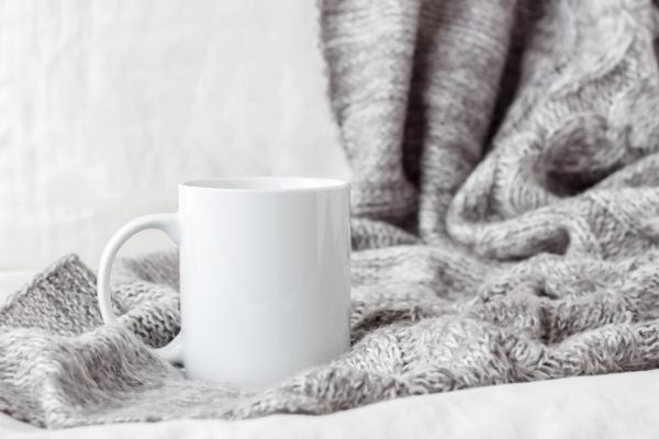 Coffee mug, drink something warm before bed for better beauty sleep.