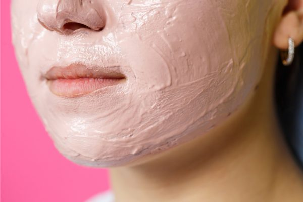 A pink face mask is used to hydrate skin. Use gently products when keeping your skin moisturized.