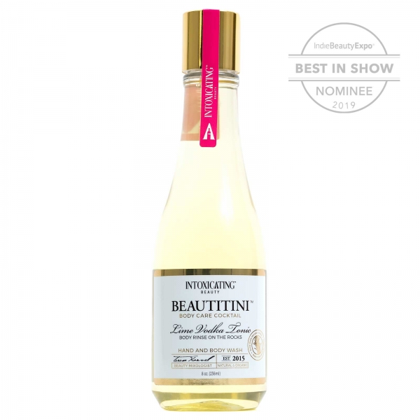 Intoxicating Beauty Beautitini Body Rinse on the Rocks.